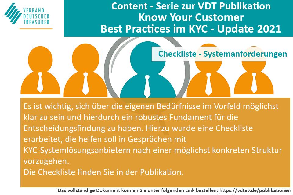 VDT Content Serie zur VDT Publikation Know Your Customer - Best Practices im KYC
